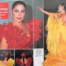 Coleccionismo de Revista Hola: RECORTE REVISTA HOLA Nº 2371 1990 ISABEL PANTOJA. 5 PGS. Lote 183895685