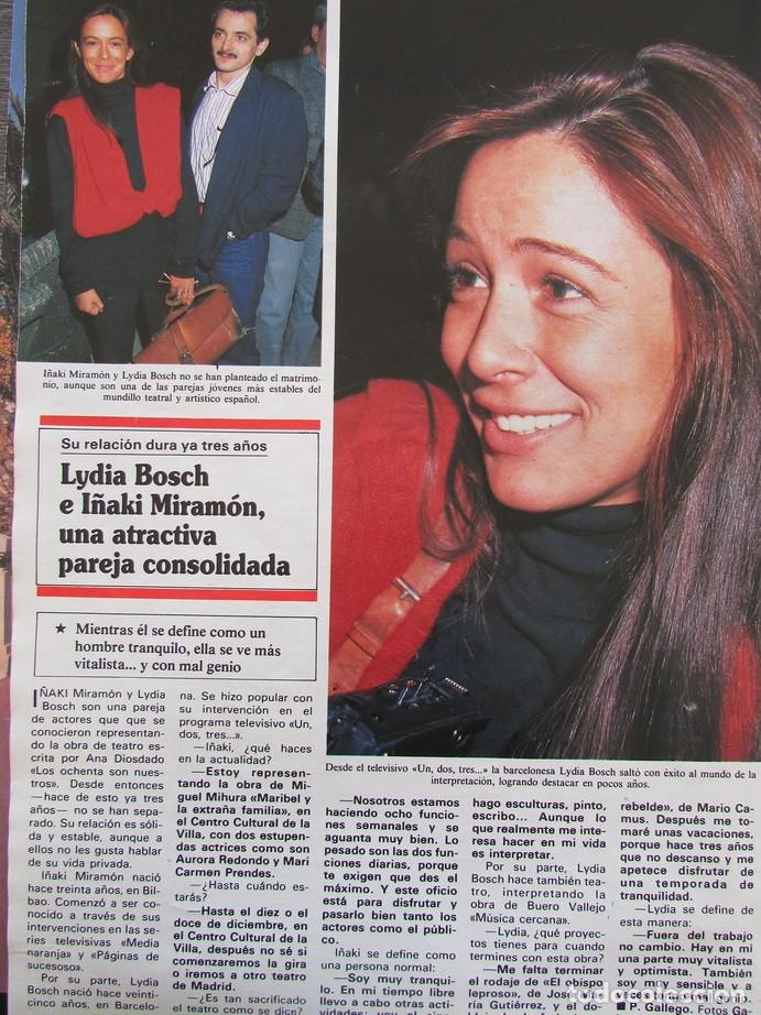 RECORTE REVISTA HOLA Nº 2371 1990 LYDIA BOSCH (Coleccionismo - Revistas y Periódicos Modernos (a partir de 1.940) - Revista Hola)