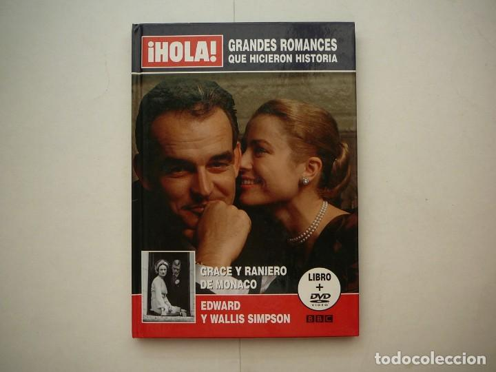 GRANDES ROMANCES QUE HICIERON HISTORIA HOLA BBC GRACE Y RANIERO DE MÓNACO LIBRO Y DVD (Coleccionismo - Revistas y Periódicos Modernos (a partir de 1.940) - Revista Hola)