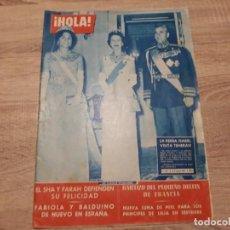 Coleccionismo de Revista Hola: HOLA 363, MARZO 1961.LA REINA ISABEL,FABIOLA,EL SHA Y FARAH ETC... Lote 184636047