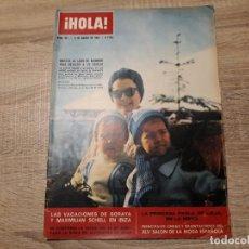 Collezionismo di Rivista Hola: HOLA 967,MARZO 1963.ONASSIS,SORAYA,PAOLA,EL CORDOBES,ETC. Lote 184640452