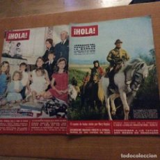 Coleccionismo de Revista Hola: LOTE DE 2 NÚMEROS 1115 ENERO 1966 Y 1277 FEBRERO 1966 FRANCO. Lote 185067683