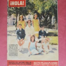 Coleccionismo de Revista Hola: HOLA - JULIO 1964 - CARMEN POLO - MARQUESES DE VILLAVERDE - CARMEN SEVILLA. Lote 185715976