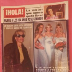 Coleccionismo de Revista Hola: REVISTA HOLA Nº 2634- 2 FEBRERO 1995 -ALICIA KOPLOWITZ , MARIA JIMENEZ, ROCIO JURADO ETC.... Lote 185993308
