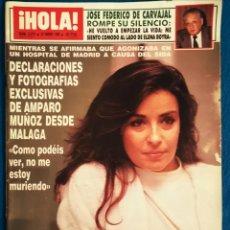 Coleccionismo de Revista Hola: ¡HOLA! AMPARO MUÑOZ - 25 01 1990. Lote 186417762