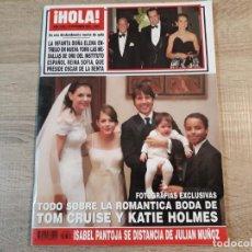 Coleccionismo de Revista Hola: HOLA 3252.INFANTA ELENA,BODA DE TOM CRUISE,ISABEL PANTOJA ETC.. . Lote 191007208