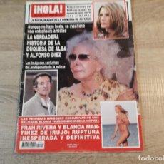 Coleccionismo de Revista Hola: HOLA 3.344.DUQUESA DE ALBA, PRINCESA DE ASTURIAS,FRAN RIVERA, ETC... Lote 191007988