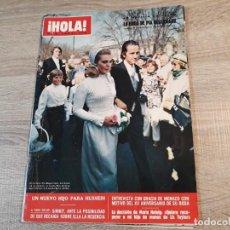 Coleccionismo de Revista Hola: HOLA 1.395, AÑO 1971.BODADE PIA DEGERMARK,GRACIA DE MONACO, ETC... Lote 191008456