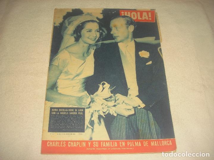 HOLA N. 777 , JULIO 1959 . CHARLES CHAPLIN EN PALMA DE MALLORCA. ROBIN DOUGLAS SE CASA CON SANDRA (Coleccionismo - Revistas y Periódicos Modernos (a partir de 1.940) - Revista Hola)