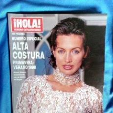 Coleccionismo de Revista Hola: HOLA NUMERO EXTRAORDINARIO ALTA COSTURA PRIMAVERA - VERANO 1998 NIEVES ALVAREZ. Lote 191984093
