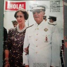 Coleccionismo de Revista Hola: REVISTA HOLA- EJEMPLAR DEL 29 DE NOVIEMBRE DE 1975- LUTO NACIONAL:EL CAUDILLO HA MUERTO-Nº 1631. Lote 192246972