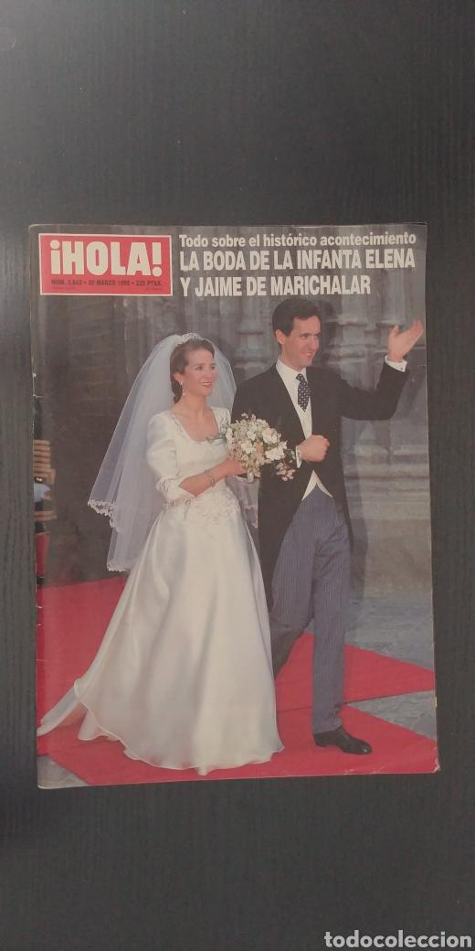 REVISTA HOLA. LA BODA DE LA INFANTA ELENA Y ... (Coleccionismo - Revistas y Periódicos Modernos (a partir de 1.940) - Revista Hola)