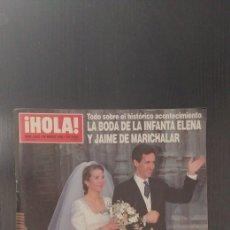 Coleccionismo de Revista Hola: REVISTA HOLA. LA BIDA DE LA INFANTA ELENA Y .... Lote 192357570