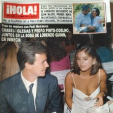 Collectionnisme de Magazine Hola: REVISTA HOLA Nº 2453 BODA LORENZO QUINN CAROLINA DE MÓNACO ISABEL PANTOJA MARTA SÁNCHEZ MASSIEL. Lote 192893000