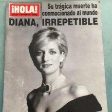 Coleccionismo de Revista Hola: REVISTA HOLA - DIANA,IRREPETIBLE - NUMERO 2770 - 11 SEPTIEMBRE DE 1997. Lote 193432515
