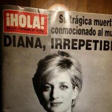 Coleccionismo de Revista Hola: REVISTA HOLA Nº 2770 AÑO 1997. SU TRAGICA MUERTE HA CONMOCIONADO AL MUNDO DIANA, IRREPETIBLE. Lote 194090407