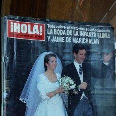 Coleccionismo de Revista Hola: REVISTA HOLA 2642 30 MARZO 1995 BODA INFANTA ELENA Y JAIME DE MARICHALAR. Lote 194200857