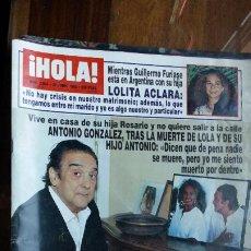 Coleccionismo de Revista Hola: REVISTA HOLA Nº 2654 AÑO 1995. ANTONIO GONZALEZ. LOLITA. ANTONIO FLORES. MARTA CHAVARRI.. Lote 194200922