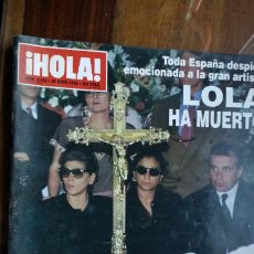 Coleccionismo de Revista Hola: HOLA Nº 2650 - 25/5/1995 -- LOLA FLORES HA MUERTO. Lote 194201105
