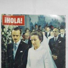 Coleccionismo de Revista Hola: REVISTA HOLA, Nº 1469, OCTUBRE 1972, PORTADA BODA DE LA INFANTA DOÑA MARGARITA DE BORBON Y BORBON. Lote 194337503