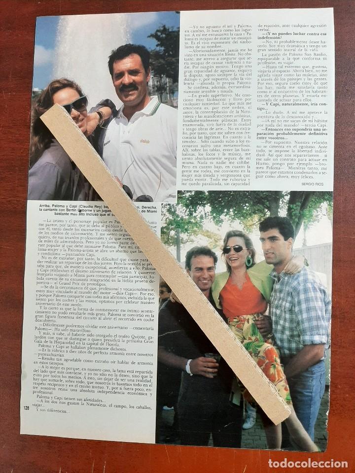 Coleccionismo de Revista Hola: PALOMA SAN BASILIO CLAUDIO REY EN GRAN PRIX MIAMI- RECORTE 2 PAG. REVISTA HOLA AÑO 1989 - Foto 2 - 194402858