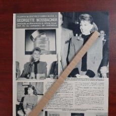 Coleccionismo de Revista Hola: GEORGETTE MOSSBACHER EN BARCELONA- ENTREVISTA - RECORTE 1 PAG. REVISTA HOLA AÑO 1989. Lote 194404528