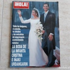 Coleccionismo de Revista Hola: HOLA EXTRA,368 PÁGINAS.BODA INFANTA CRISTINA E IÑAKI URDANGARIN. Lote 194490768