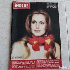 Coleccionismo de Revista Hola: HOLA 1495,AÑO 1973.RAPHAEL Y NATALIA,CATHERINE SPAAK,MODA PARIS ,ETC... Lote 194492496