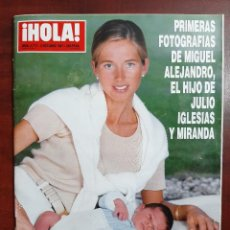 Coleccionismo de Revista Hola: REVISTA HOLA AÑO 1997 N 2773- MIRANDA Y JULIIO IGLESIAS-MAR FLORES- BODA SERGIO DALMA-. Lote 194505552