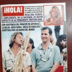 Coleccionismo de Revista Hola: REVISTA HOLA AÑO 1997 N 2752- PAULINA RUBIO-ARANCHA DEL SOL-JUNCAL RIVERO-LOLITA FLORES-MAR FLORES. Lote 194506697