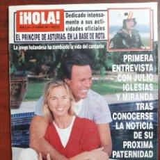 Coleccionismo de Revista Hola: REVISTA HOLA AÑO 1997 N 2742- JULIO IGLESIAS- ANA OBREGON-SOFIA MAZAGATOS-BLANCA SUELVES-. Lote 194508147
