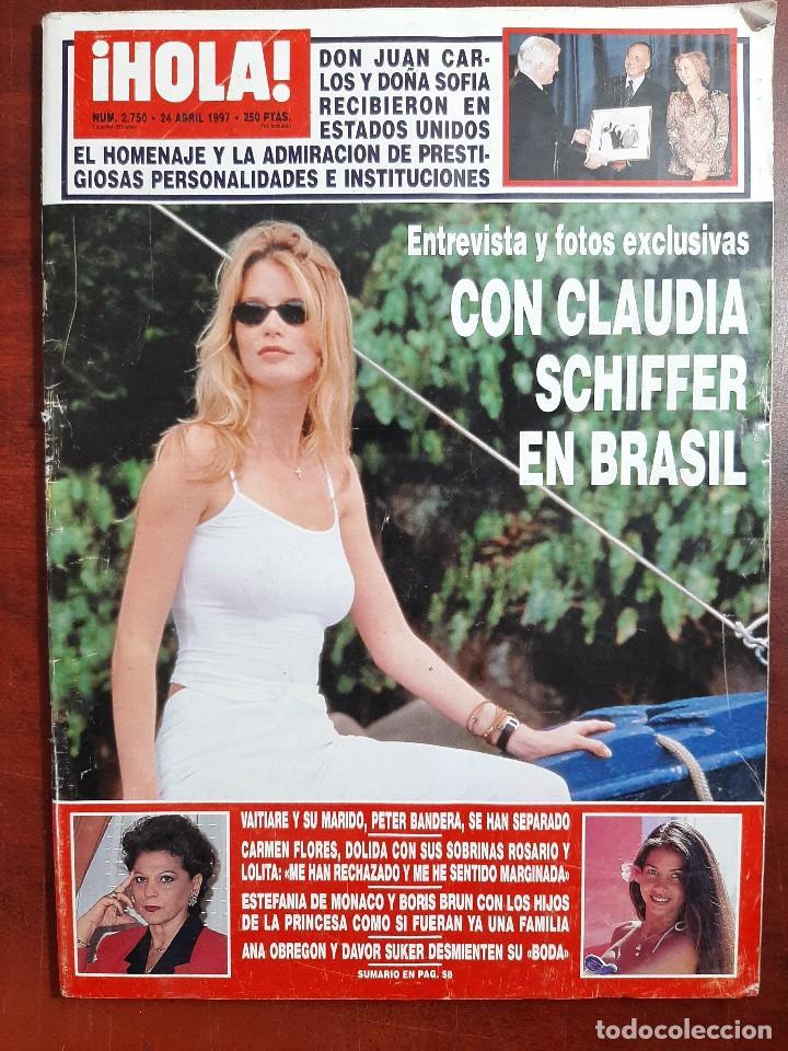REVISTA HOLA AÑO 1997 N 2750- CLAUDIA SCHIFFER- CARMEN FLORES- ANA OBREGON DAVOR SUKER (Coleccionismo - Revistas y Periódicos Modernos (a partir de 1.940) - Revista Hola)