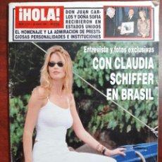 Coleccionismo de Revista Hola: REVISTA HOLA AÑO 1997 N 2750- CLAUDIA SCHIFFER- CARMEN FLORES- ANA OBREGON DAVOR SUKER. Lote 194508580