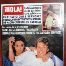 Coleccionismo de Revista Hola: REVISTA HOLA AÑO 1997 N 2759- JOAQUIN CORTES Y NAOMI CAMPBELL-ROCIO DURCAL-ANA OBREGON Y DAVOR SUKER. Lote 194510030