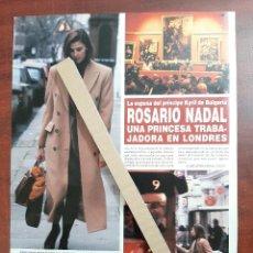 Coleccionismo de Revista Hola: ROSARIO NADAL UNA PRINCESA TRABAJADORA EN LONDRES - RECORTE 1 PAG. REVISTA HOLA AÑO 1992. Lote 194612972