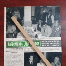 Coleccionismo de Revista Hola: RAFA CAMINO Y LARA DABILDOS - RECORTE 1 PAG. REVISTA HOLA AÑO 1992. Lote 194613362