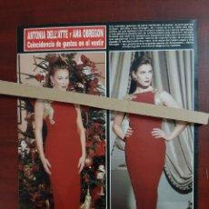 Coleccionismo de Revista Hola: ANA OBREGON Y ANTONIA DELL'ATTE MISMO VESTIDO- RECORTE 1 PAG. REVISTA HOLA AÑO 1992. Lote 194614948