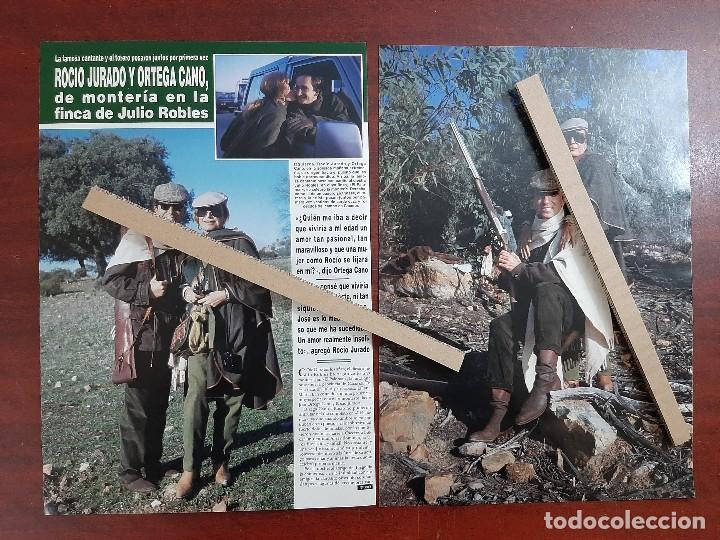 ROCIO JURADO Y ORTEGA CANO EN MONTERIA FINCA JULIO ROBLES- RECORTE 3 PAG. REVISTA HOLA AÑO 1992 (Coleccionismo - Revistas y Periódicos Modernos (a partir de 1.940) - Revista Hola)