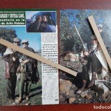 Coleccionismo de Revista Hola: ROCIO JURADO Y ORTEGA CANO EN MONTERIA FINCA JULIO ROBLES- RECORTE 3 PAG. REVISTA HOLA AÑO 1992. Lote 194619661