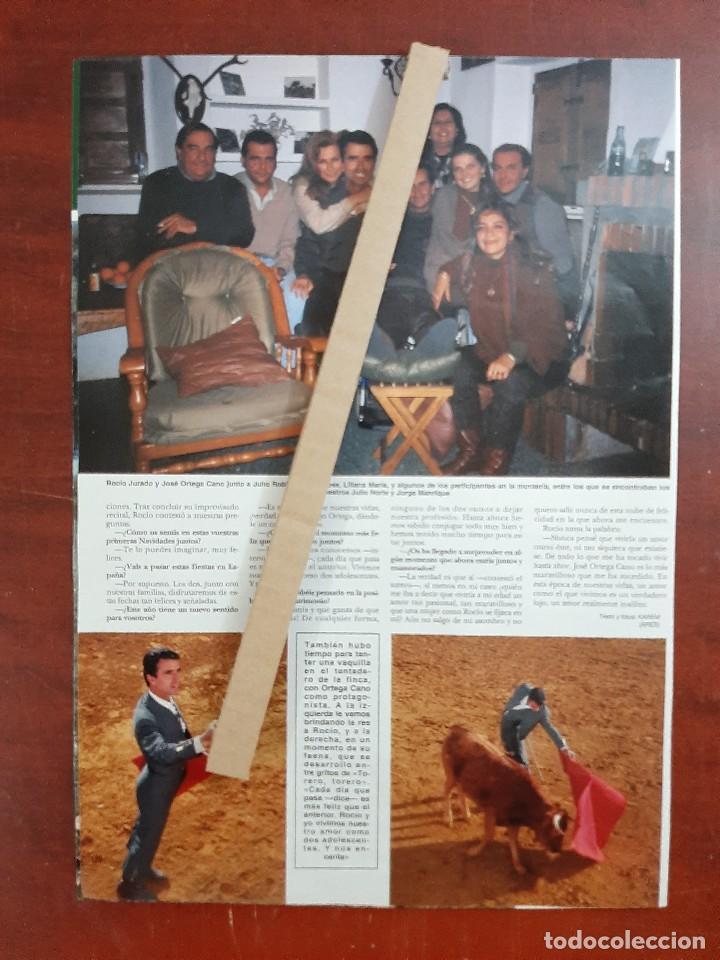 Coleccionismo de Revista Hola: ROCIO JURADO Y ORTEGA CANO EN MONTERIA FINCA JULIO ROBLES- RECORTE 3 PAG. REVISTA HOLA AÑO 1992 - Foto 2 - 194619661