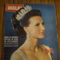 Coleccionismo de Revista Hola: REVISTA HOLA SONIA DE NORUEGA ESPERA UN BEBÉ EL FESTIVAL DE EUROVISIÓN NÚMERO 1389 10 DE ABRIL DE 71. Lote 194624186