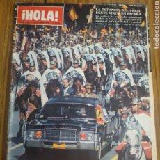 Coleccionismo de Revista Hola: REVISTA HOLA ESTANCIA DE PRESIDENTE NIXON EN ESPAÑA NÚMERO 1369 10 DE OCTUBRE 1970. Lote 194627528