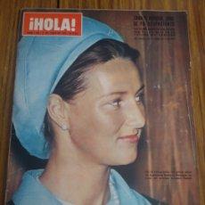 Coleccionismo de Revista Hola: REVISTA HOLA LA INFANTA CRISTINA SOFÍA LOREN SONIA DE NORUEGA NÚMERO 1348 27 DE JUNIO DE 1970. Lote 194627902