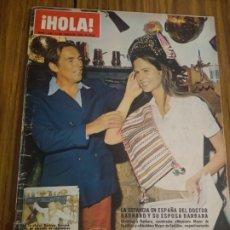 Coleccionismo de Revista Hola: REVISTA HOLA CONDESA DE BARCELONA , DOCTOR BERNAT Y SU ESPOSA BÁRBARA ESTEFANÍA DE MÓNACO. Lote 194628838