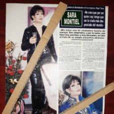 Coleccionismo de Revista Hola: SARA MONTIEL - ENTREVISTA- RECORTE 1 PAG. REVISTA HOLA AÑO 1992. Lote 194633090