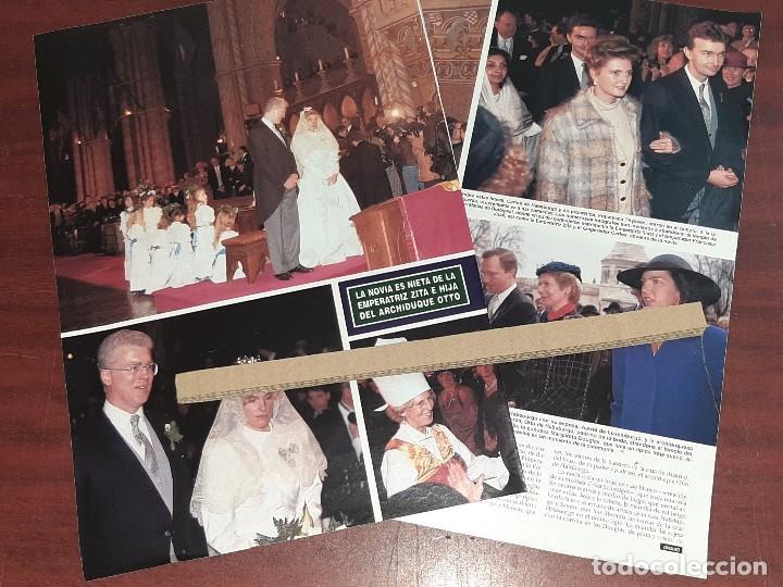 BODA WALGURGA HABSBURGO Y ARCHIBALD DOUGLAS - RECORTE 3 PAG. HOLA AÑO 1992 (Coleccionismo - Revistas y Periódicos Modernos (a partir de 1.940) - Revista Hola)