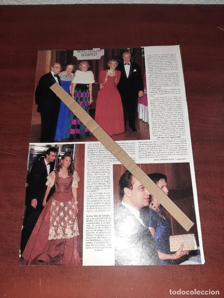 Coleccionismo de Revista Hola: BODA WALGURGA HABSBURGO Y ARCHIBALD DOUGLAS - RECORTE 3 PAG. HOLA AÑO 1992 - Foto 2 - 194638193