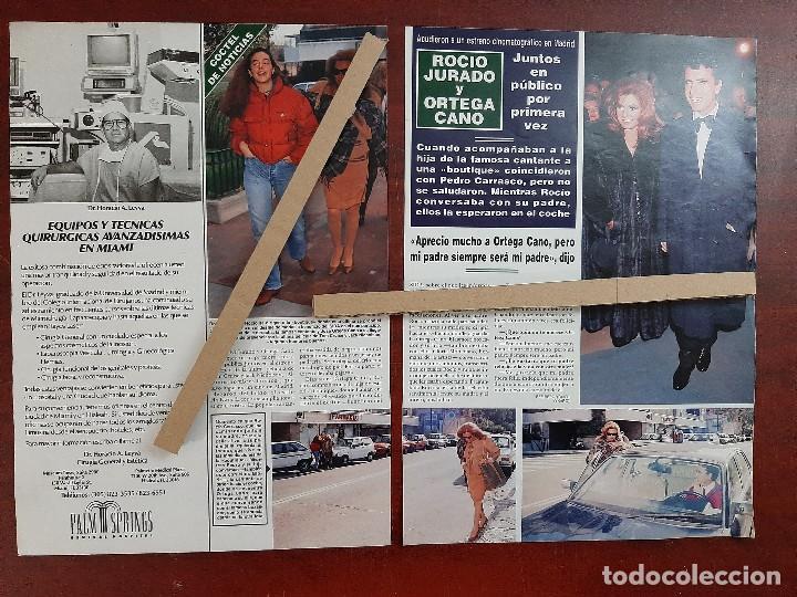ROCIO CARRASCO JURADO Y ORTEGA CANO - RECORTE 2 PAG. HOLA AÑO 1992 (Coleccionismo - Revistas y Periódicos Modernos (a partir de 1.940) - Revista Hola)