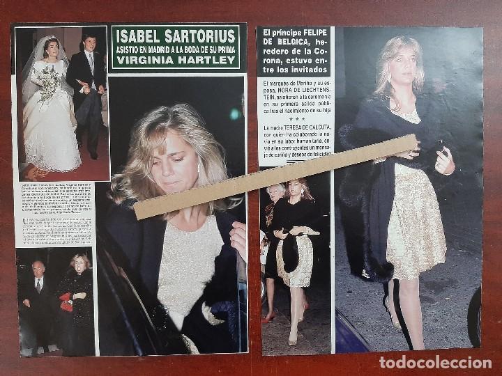 ISABEL SARTORIUS - RECORTE 3 PAG. HOLA AÑO 1992 (Coleccionismo - Revistas y Periódicos Modernos (a partir de 1.940) - Revista Hola)