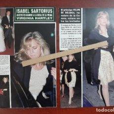 Coleccionismo de Revista Hola: ISABEL SARTORIUS - RECORTE 3 PAG. HOLA AÑO 1992. Lote 194641223